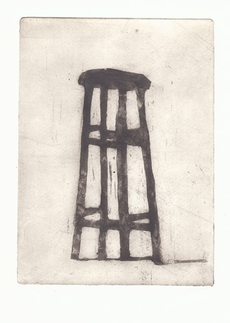 Stool - Pittura, ©2014 da Sophie Cordery -                                                                                                                                                                                                  sugarlift, aquatint, print, stool
