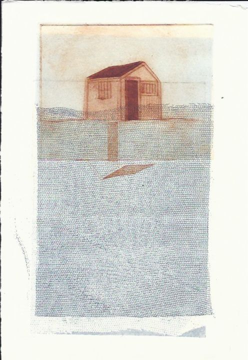 """Printmaking titled """"shed-2"""" by Sophie Cordery, Original Art,"""