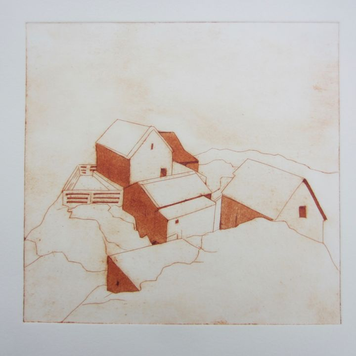 """Printmaking titled """"Les Ecrehou"""" by Sophie Cordery, Original Art, Other"""