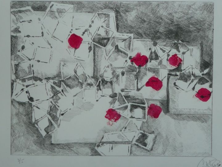 EMPILEES - Printmaking,  7.1x9.8 in, ©2013 by Sophie hoang trong -