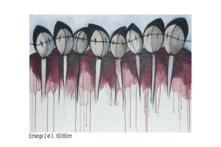 ECHANGE 2 - Painting, ©2011 by Sophie hoang trong -
