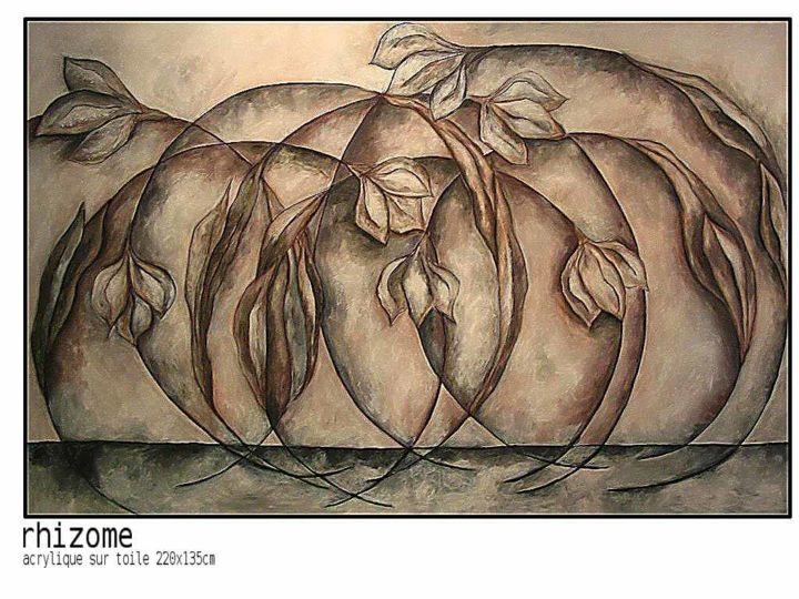 rhizome-2.jpg - Painting, ©2006 by Sophie hoang trong -