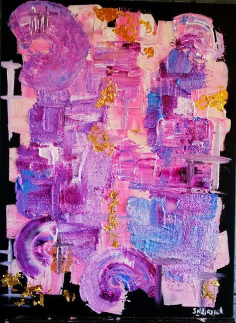 la roue tourne - Painting,  70x50 cm ©2012 by Sophie Neirynck -