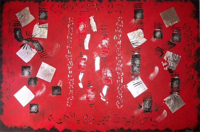 rencontres magiques - Painting,  100x180 cm ©2006 by Sophie Neirynck -