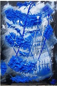 océan d'argent - Painting ©2006 by Sophie Neirynck -