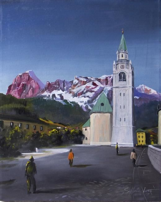 Cortina Centro - Painting,  19.7x15.8 in, ©2007 by Luca Soppelsa -