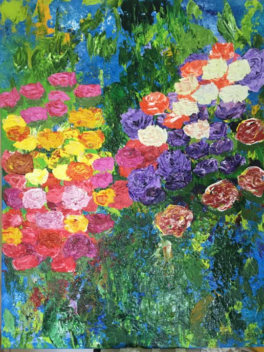 """Painting titled """"Love roses"""" by Samy Hasan, Original Art, Acrylic"""