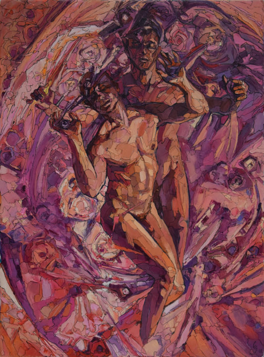 """Painting titled """"The Two-Fold Man"""" by Sergey Sovkov, Original Art,"""