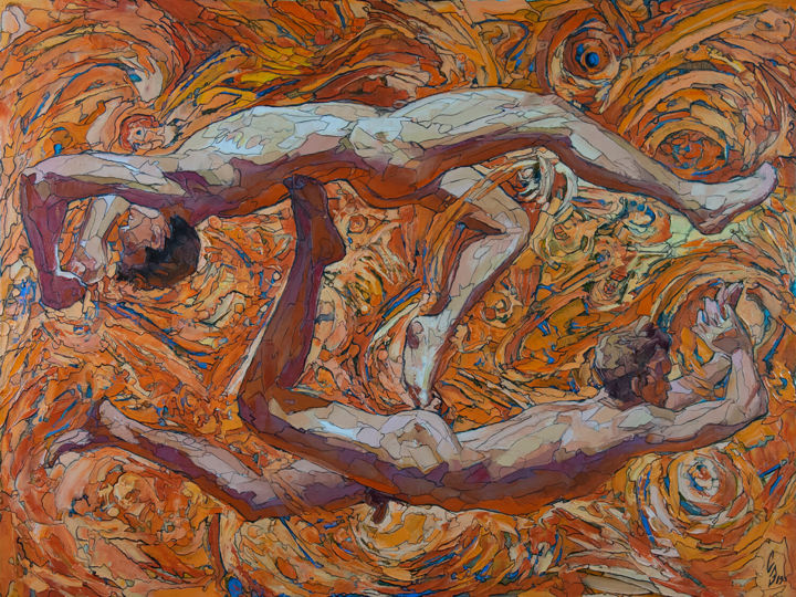 """Painting titled """"The Opposite Course…"""" by Sergey Sovkov, Original Art, Oil Mounted on Stretcher frame"""