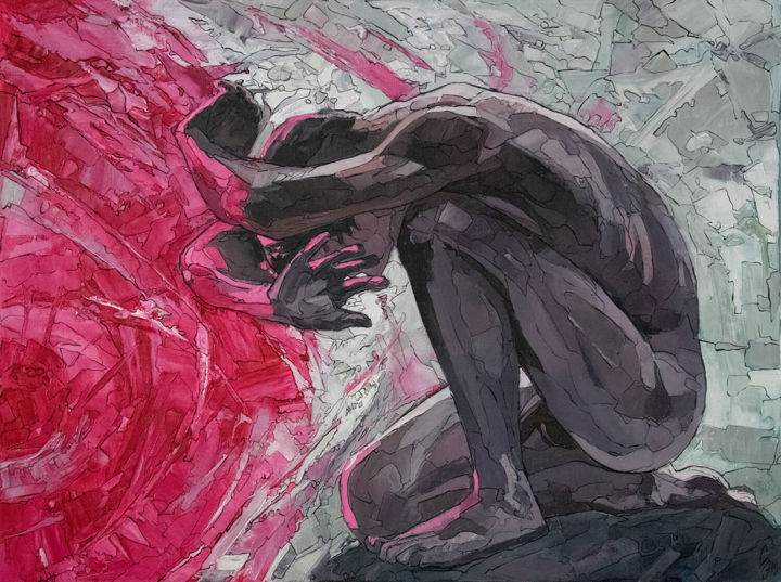"""Painting titled """"Resistance to pink"""" by Sergey Sovkov, Original Art, Oil Mounted on Stretcher frame"""