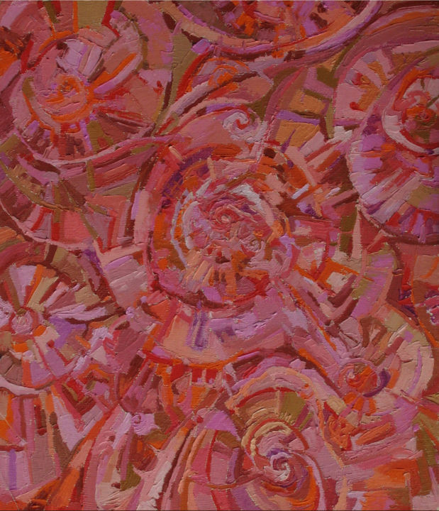 Experience. India. - Painting,  40x36 cm ©2006 by Sergey Sovkov -                                                            Realism, Canvas, Abstract Art, Abstract
