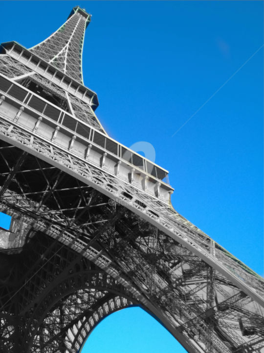 Eiffel tower black and white with color - Photography, ©2016 by splash -                                                                                                                                                                                                                                                                                                                                                                                                                                                                                                                                                                                                                                                                                                                                                                                                                                                                                                                                                                                                                                                                                                                                                                  Architecture, Colors, Geometric, Light, Black and White, splash, splash art, splash artist, splash artiste, splash images, splash photo, splash pictures, splash photographie, splash photography, color splash, colors splash photography, eiffel tower, eiffel tower color splash, eiffel, eiffel tower paris, eiffel tower paris france, eiffel tower color splash paris, eiffel tower color splash paris france, paris, france