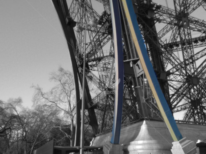 Eiffel tower black and white with color - Photography, ©2016 by splash -                                                                                                                                                                                                                                                                                                                                                                                                                                                                                                                                                                                                                                                                                                                                                                                                                                                                                          Architecture, Colors, Geometric, Light, Nature, black and white with color, eiffel tower black and white with color, eiffel tower paris black and white with color, black and white with color posters, photo noir et blanc couleur, noir et blanc couleur, poster noir et blanc couleur, canvas noir et blanc couleur, tour eiffel noir et blanc couleur poster, tour eiffel noir et blanc couleur canvas, black and white with color eiffel tower, eiffel tower, eiffel tower paris, eiffel tower black and white with color canvas poster fine prints