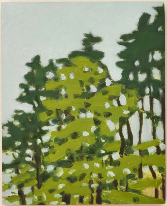 """Painting titled """"Small Trees"""" by Susan Post, Original Art, Oil"""