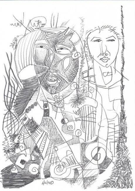 Drawing,  21 x 29,7 cm ©1991 by Stacho -  Drawing