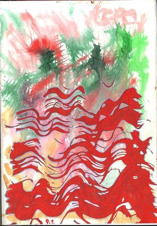 ID 1109_C Cahier - Painting,  20x14 cm ©1983 by Stacho -