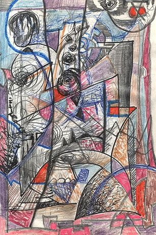 ID 1378_C Cahiers - Painting,  29x21 cm ©1986 by Stacho -
