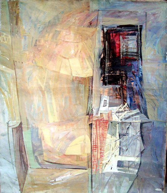 Still Life A - Painting,  104x92 cm ©1992 by Stan Bigda -                            Contemporary painting, Oil painting of a still life