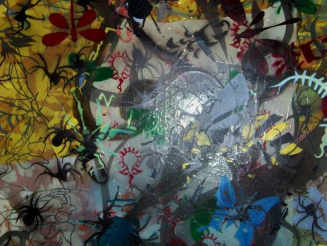 """Painting titled """"Mass Insect"""" by Joshua Staples, Original Art,"""