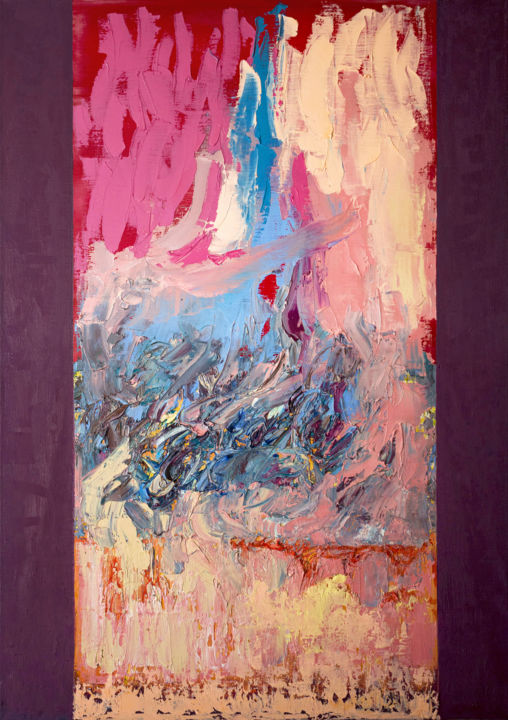 """Painting titled """"Dance of the elemen…"""" by Stas Royze, Original Art, Oil Mounted on Stretcher frame"""