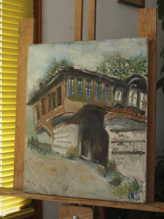 """Painting titled """"Old House in Veliko…"""" by Petar Ivanov, Original Art, Oil"""