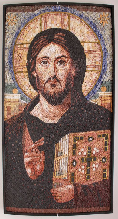 Cristo del Sinai - © 2015 Christ of Sinai, Mosaic, Christ of Sinai mosaic Online Artworks
