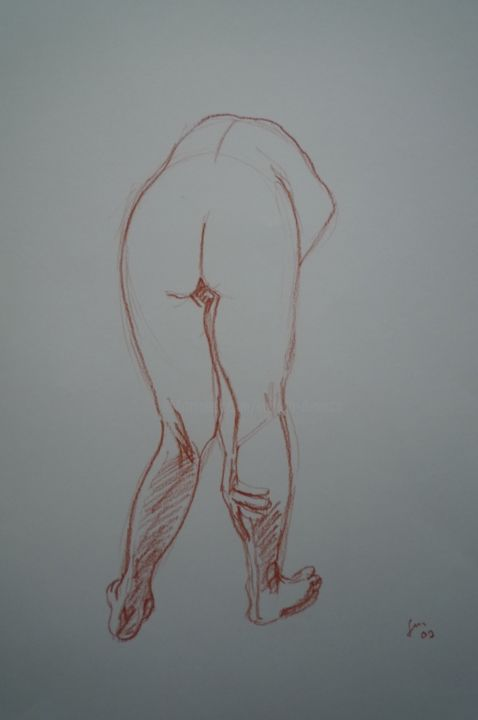 Croquis 7 - Drawing,  35x25 cm ©2009 by Stefano Di Marco -                                                            Realism, Paper, Nude, Croquis, Nude
