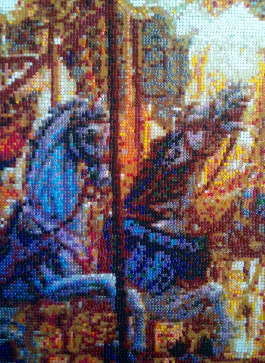 Carousell - © 2011 Pearlmosaic, Carousell Montmartre, Mosaic Online Artworks
