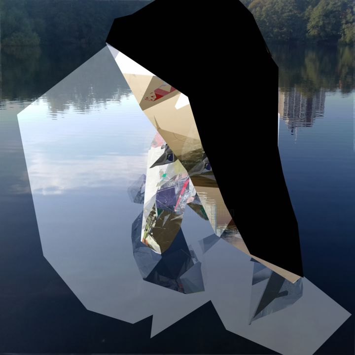 Untitled 2020-02-12a - Digital Arts, ©20250 by Stefan Fransson -                                                                                                                                                                                                                                                                                                                                                                                                                                                                                                                                                                                          Abstract, abstract-570, Abstract Art, Landscape, Nature, Water, water, reflection, mirror, evening, landscape, Stockholm