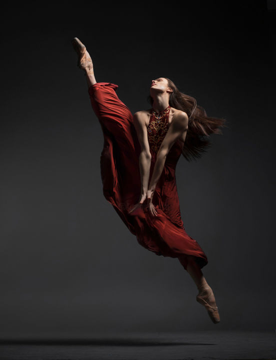 """Photography titled """"red dance explosion…"""" by Vadim Stein, Original Art,"""