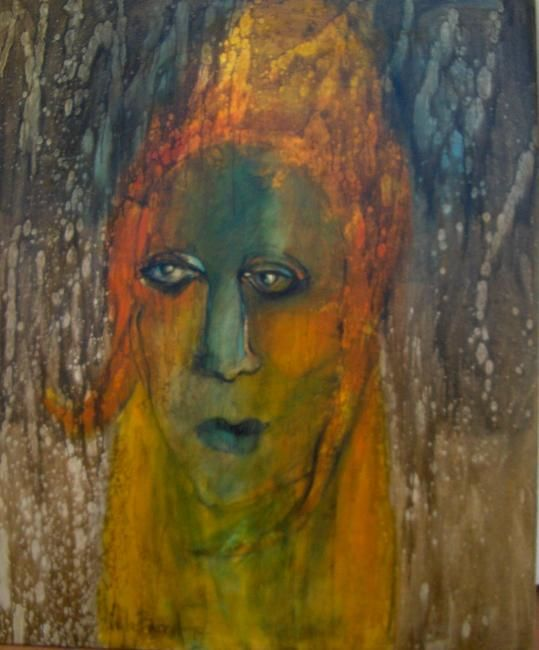 Facies III - Painting,  100x120 cm ©2009 by Stela Barreto -                            Contemporary painting, Original painting