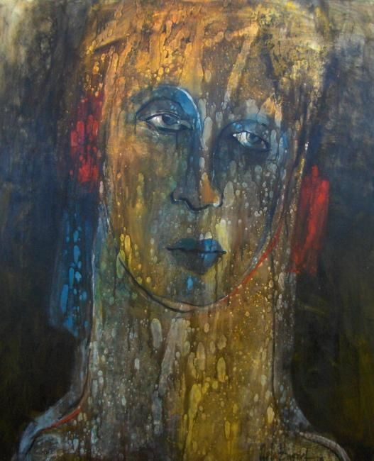 Facies V - Painting,  100x120 cm ©2009 by Stela Barreto -                            Contemporary painting, Original Painting