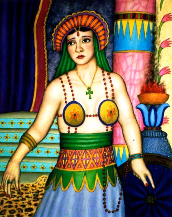 """Painting titled """"Betty Blythe from """"…"""" by Stephen Warde Anderson, Original Art, Acrylic Mounted on Wood Panel"""
