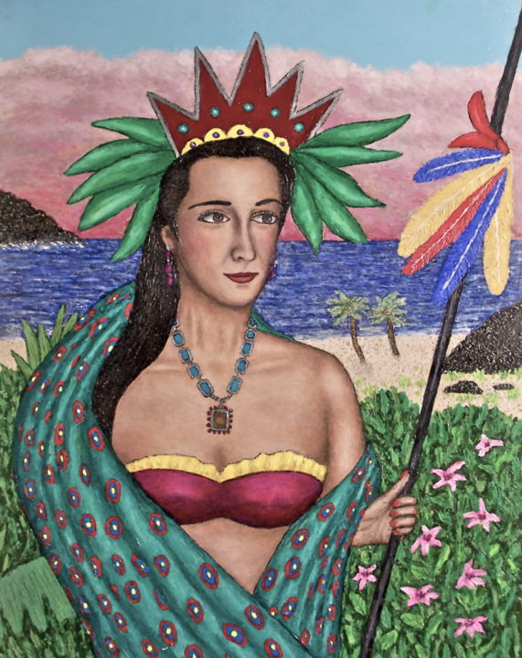 """Painting titled """"Queen of the South"""" by Stephen Warde Anderson, Original Art, Acrylic"""