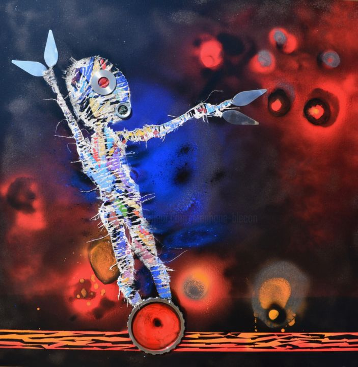 """Painting titled """"Life on Mars, the S…"""" by Stéphane Blécon, Original Art, Oil"""