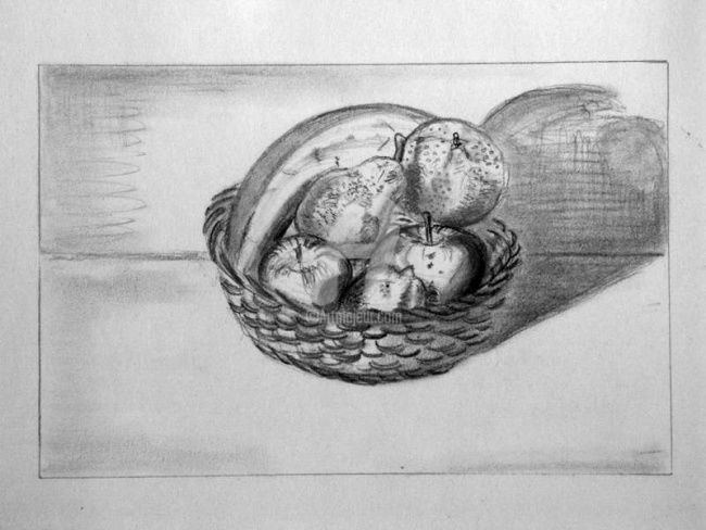 Corbeille 2 - Drawing,  29.7x21 cm ©2006 by STEPH -