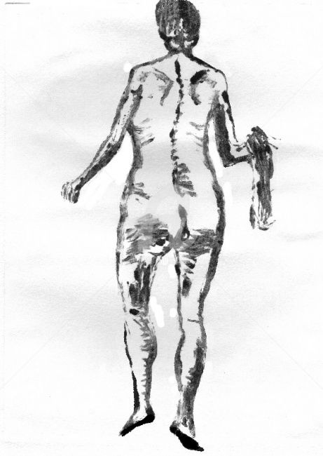monotype-nu 003 - Drawing,  11.7x8.3 in, ©2009 by Steph -                                                              nu