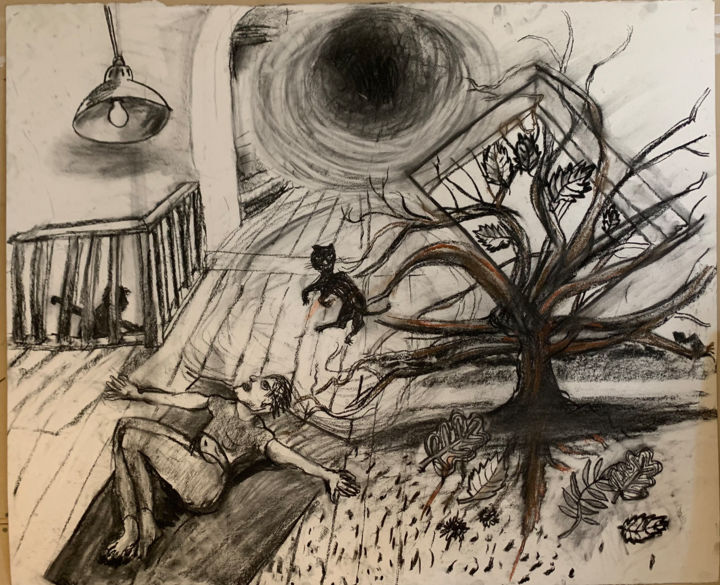 """Drawing titled """"No. 3"""" by Stephen West, Original Art, Charcoal"""