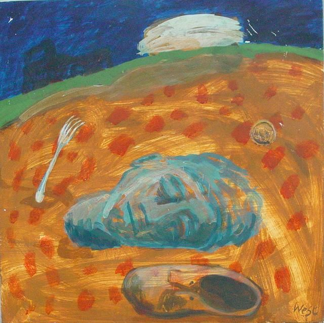"""Painting titled """"Buried Head"""" by Stephen West, Original Art, Other"""