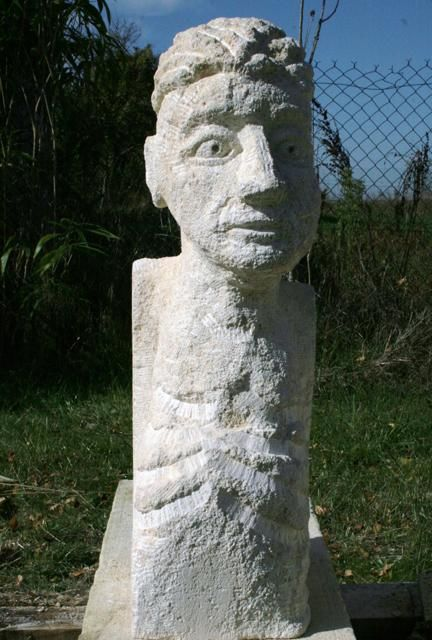 """Sculpture titled """"Personage"""" by Stephen West, Original Art, Stone"""
