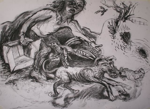 """Drawing titled """"Raw Drawing"""" by Stephen West, Original Art, Other"""