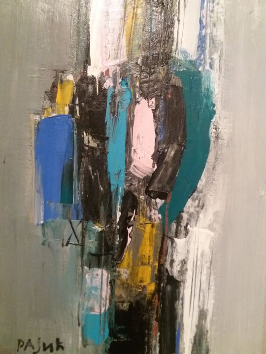"""Painting titled """"Abstract"""" by Stevan Rajic, Original Art, Acrylic"""
