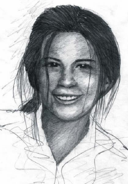 """Drawing titled """"Portrait of Abby by…"""" by Steven Hawke, Original Art,"""