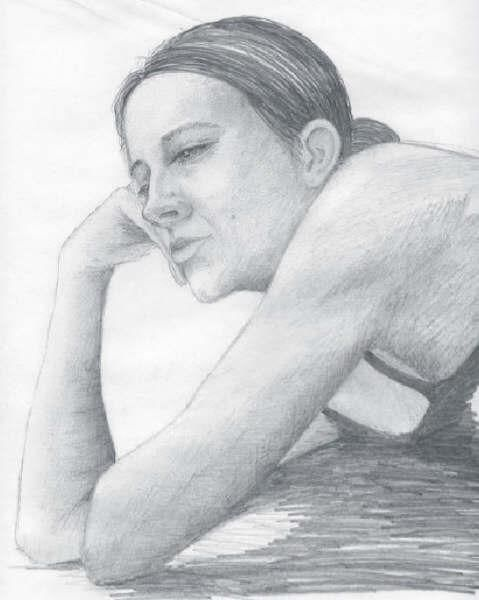 """Drawing titled """"Portrait of Michell…"""" by Steven Hawke, Original Art,"""