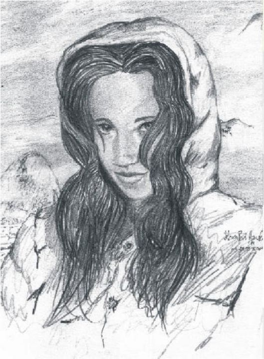 """Drawing titled """"A Cold Pacific Wint…"""" by Steven Hawke, Original Art,"""
