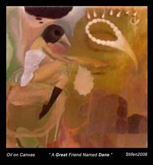 """Painting titled """"A Great friend name…"""" by Stifen Taneo, Original Art,"""