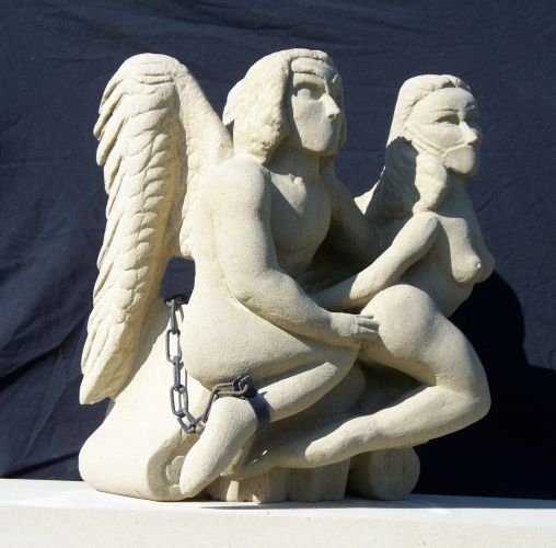 """Sculpture titled """"Chained to the ruin…"""" by Stonecarver, Original Art, Stone"""