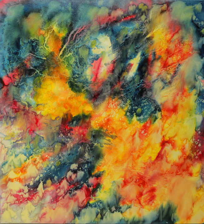 Fire day - ©  abstract, art, painting, oil, canvas, fair, day Online Artworks