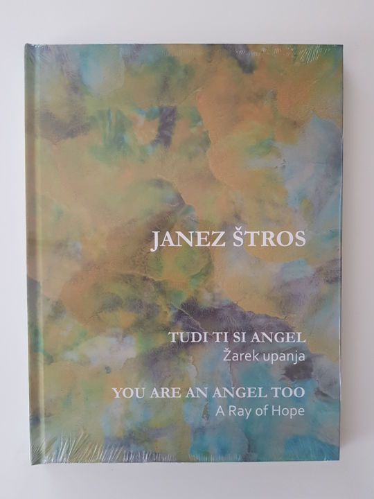 You are an Angel too - Painting,  28x22x2 cm ©2017 by Janez Štros -                                                            Art Deco, Canvas, Angels, Angel, book, charity, children