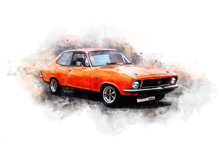 Orange Torana GTR XU-1 - Photographie ©2019 par Stuart Row -                                                                                Illustration, Automobile, Voiture, Moteur, Transport, holden, torana, gtr, gtr xu1, gtr xu-1, muscle, performance, car, orange